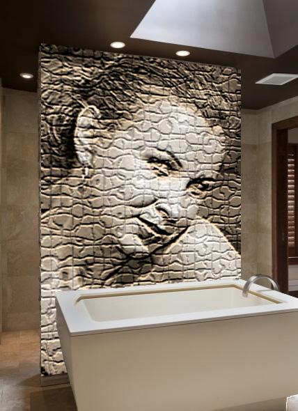 полимерная мозаика в ванной