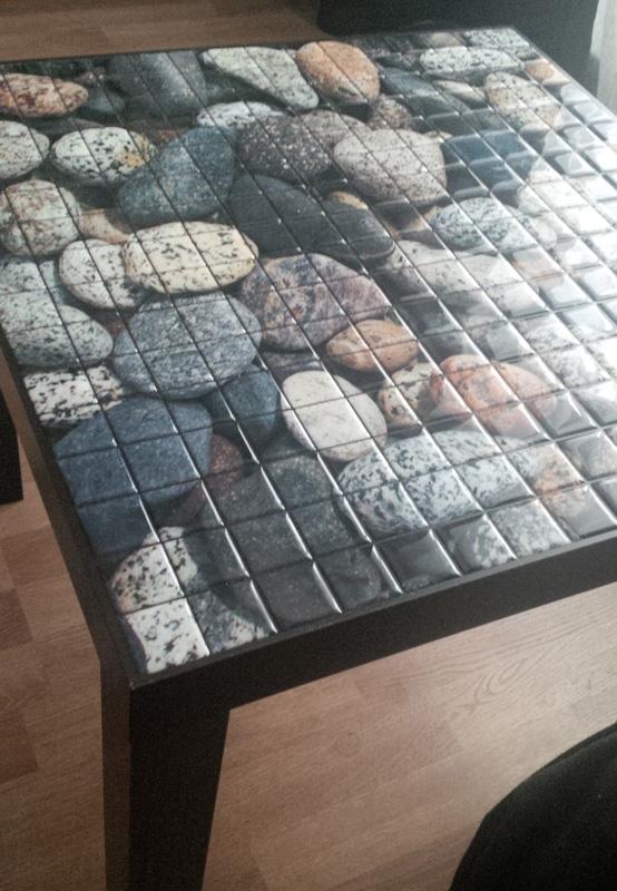 журнальный столик с полимерной мозаикой